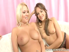 Busty lesbos Nika Noir and Riley Evans