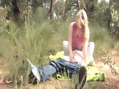 Horny australian blonde slut gets fucked