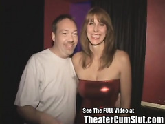 Slutty MILF Karen Sucks and Fucks Porn Theater Strangers in Tamp