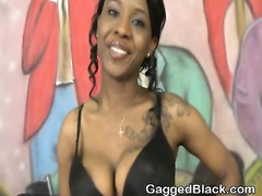 Dirty Black Ghetto Slut Face Fucking And Slapped Around
