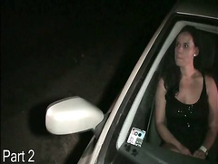 Shemale - shemale is sucking cocks in public thru car window Par
