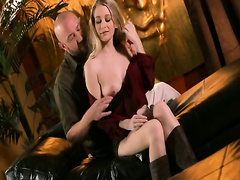 Big tits blonde Stacie Jaxxx rides on cock and facialed