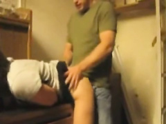 Blonde Bends Over On A Desk And Gets Upskirt Doggystyle