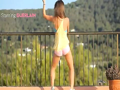 Killer ass undress on the balcony