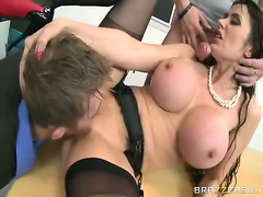 Eva Karera enjoying two hard cocks