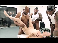 Hailey Young fucked by 3 black convicts