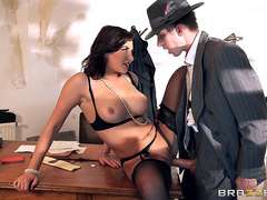 Sexy Russian Anna Polina gets fucked on a desk