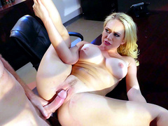 Presidential candidate Kagney Linn Karter fucked hard on her desk