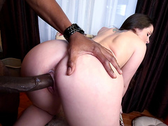 Lola Foxx gets her pussy penetrated by huge black monster cock