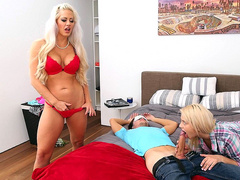 Aubrey Gold and her stepmother Holly Heart planned this seduction