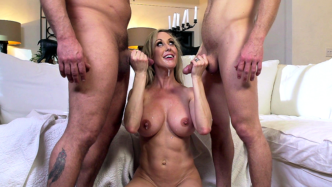 3way porn threesome for newbie actor with hot blonde amp pe 3