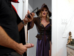 Cory Chase walks in on a Halloweeny