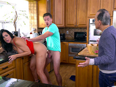 Reagan Foxx gets caught fucking her stepson