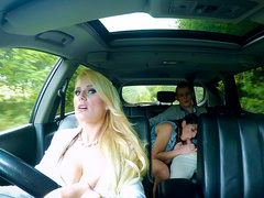 Teens In The Backseat - Angel Wicky - Jimena Lago - Brazzers HD