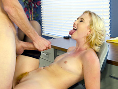 Patient Samantha Rone get blasted with cum from her doctor
