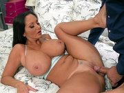 Ava Addams fucks her daughter's boyfriend on the bed