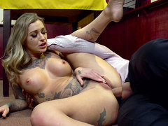 Tattooed slut Kleio Valentien fucked in her ass