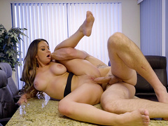 Busty boss Brooke Beretta fucked by her well endowed employee