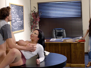 Busty librarian Sheridan Love fucked by a cheating student