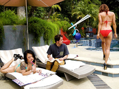 Poolside Milf Starring Isis Love and Holly Hendrix - Reality Kings HD