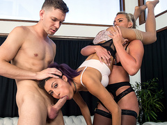 Thankful for a Wild 3some with Phoenix Marie and Jade Jantzen - Bangbros 4K