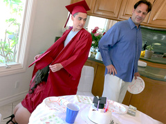 Students Jynx Maze and Juan celebrate their graduations