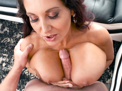 Ava Addams sucks the big cock and gives nice titjob