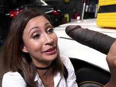 Mechanic Has The Biggest I've Ever Seen - Jade Jantzen - Bangbros 4K