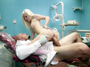 Tiny blonde teen Vera Bliss fucking her doctor