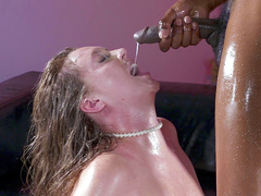 Maddy O'Reilly gets a facial cumshot from Isiah Maxwell's black monster cock