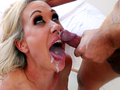 Brandi Love gets a messy facial from Keiran Lee