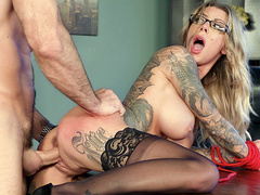 Karma RX fucked while bent over the office desk