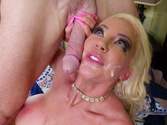 Nicolette Shea gets her face cum covered by Johnny Sins