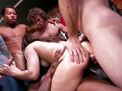 Kimber Woods gang banged and double penetrated