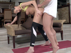 Lithuanian MILF Tina Kay getting fucked standing
