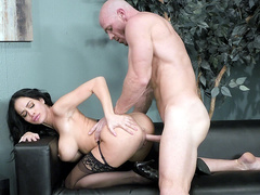 Victoria June gets pounded doggy style by Johnny Sins