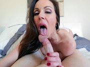 MILF Kendra Lust gives balls licking blowjob in POV