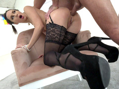 Lilu Moon in sexy outfit gets assfucked doggystyle