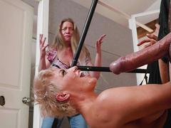 Ryan Keely finishes her fetish fuck session with upside down facial