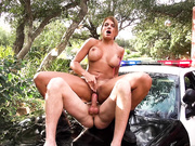Officer Carrera responding to an emergency call for cock