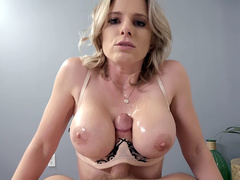 Cory Chase giving Jessy Jones a nice titty fuck