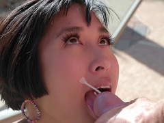 Pool boy Johhny Sins shoots his load all over cheating asian wife Mia Li's face