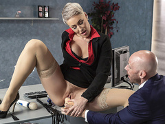 Product Placement In Her Pussy with Ryan Keely and Johnny Sins - Brazzers HD