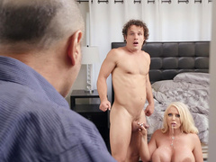 Alura Jenson gets caught by her husband after taking a facial from her stepson