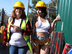 Cock-Calling On The Job Site Starring Ivy Lebelle - Brazzers HD