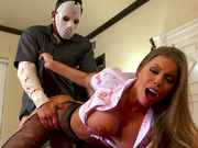 Britney Amber gets fucked and facialized by Jason Voorhees