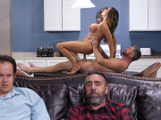 Cheating wife Ariella Ferrera fucking her husbands guest