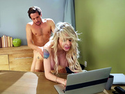 Danielle Derek gets fucked by her stepson while trying to send an email