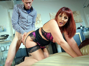 English milf Beau Diamond taking it doggy style by Danny D