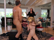 Teen Abby Adams gets caught by her mother fucking the drum teacher